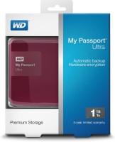 Western Digital New WD My Passport Ultra 1TB Usb3.0 Secure Portable Drive Wth Auto Backup Classic 1 TB Wired External Hard Drive