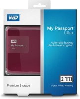 Western Digital My Passport Ultra Secure Portable Drive 2 Tb Portable (Berry) 2 TB Wired External Hard Drive