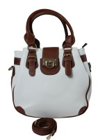 Classique Double Buckle Shoulder Bag White