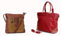 Carry On Bags Valentine Special Combo Hand-held Bag Red
