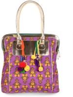 JaipurSe Women Ethnic Pintuck Work Cotton Hand-held Bag Multicolor