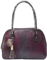 Chanter Croco Design Leather Hand Bag Purple - 16