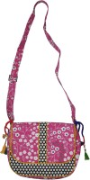 Lal Haveli Ethnic Polka Dot Design Printed Sling Bag Multicolor