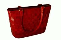 Rustictown Large Leather Shoulder Bag Red