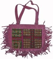 Lal Haveli Rajasthani Handmade Mirror Embroidery Satchel Pink