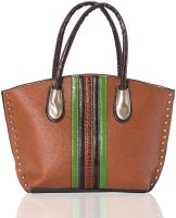 Aapno Rajasthan Faux Leather with Colour Metal Details Hand-held Bag Multicolor
