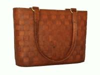 Rustictown Large Women Bucket Shoulder Bag Brown