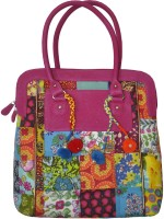 Lal Haveli Beautiful Lovely Cotton Patchwork Design Hand-held Bag Multicolor