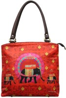 The Elephant Company Leather Hand-held Bag Red