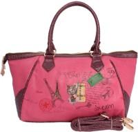 Khoobsurati Funky Print Stylish Hand Bag Pink