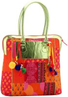 Jaipurse Womens Printed Cotton Shopping with Tassels Hand-Held Bag