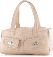 Spring Summer Collection Croco Design Hand-held Bag Beige