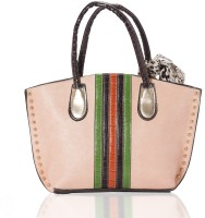 Aapno Rajasthan Textured & Coloured Double Handle Faux Leather Hand-held Bag Multicolor