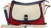 HX London Marigold Messenger Bag White, Red
