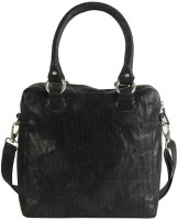 Goguava Corduroy Leather Bag With Shoulder Strap Hobo Black