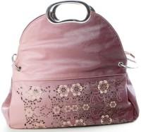 JG Shoppe HX Metal Handle Hand Bag Pink-002