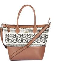 Paprika Roselle Shoulder Bag Black, White, Brown
