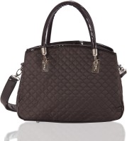 Aapno Rajasthan High Quality Nylon and Faux Leather Quilted Hand-held Bag Black
