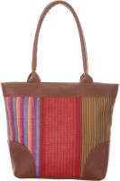 Jute Cottage Cotto 3 Colour Stripe Shoulder Bag Brown
