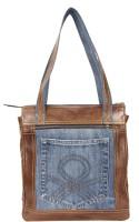 Hibiscus Fusion1 Shoulder Bag LT-Brown-Blu