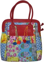 Lal Haveli Rajasthani Beautiful Cotton Patchwork Hand-held Bag Multicolor
