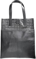 AQ Helen Punched Tote Black