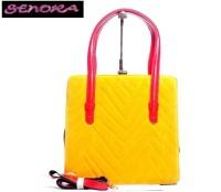 Senora Stylish Hand-held Bag YELLOW