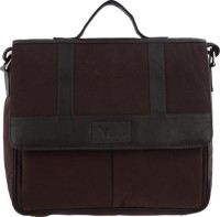 Hidegear Leather Canvas Messenger Bag Brown