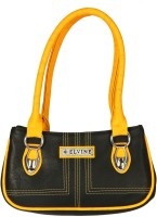 Elvine Beautiful women Hand-held Bag Black-Yellow