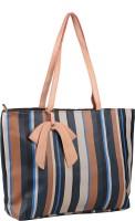 Buckleup Vertical Stripes Shoulder Bag Blue