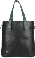 Goguava Corduroy Leather Bag With Contrast Handles Hand-held Bag Black
