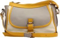 HX London Marigold Messenger Bag Grey, White