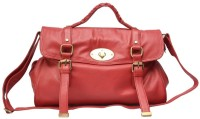 Chanter Texture Design Genuine Leather Hand Bag Red - 17