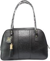 Chanter Texture Design Genuine Leather Hand Bag Black - 05