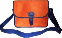 Princesse K Messenger Bag Orange with Blue