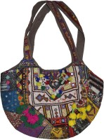 Lal Haveli Indian with Hand Embroidered Patchwork Décor Cotton Bag Shoulder Bag
