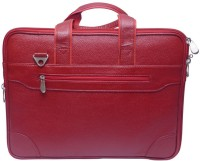 Grasshooper GH-LLFHB Leather Laptop Fancy Hand Messenger Bag Red
