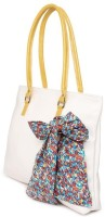3 Mad Chicks Fabric Shoulder Bag White-5, Yellow-12