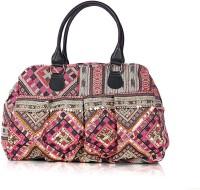 Shaun Design Pink Jacqard Embroidered Hand-held Bag Pink