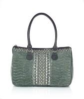 Shaun Design Grey Velvet Embroidered Hand-held Bag Grey