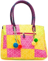 JaipurSe Ethnic Patchwork Cotton with Tassels Hand-held Bag Multicolor