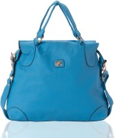 Aapno Rajasthan Smooth Faux Leather Chain Accent Shoulder Bag Brandeis Blue