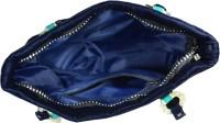 Arisha Kreation Co Stylish Stones Studded Embroidered Standing Peacock Hand-held Bag Blue