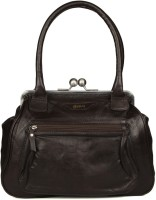 Goguava Leather Bag With Front Pocket Hobo Brown