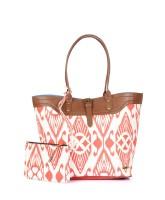 Paprika Lauren Shoulder Bag Orange, White