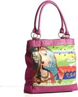 Aapno Rajasthan Royal Princess Digital Print Leather Square Hand-held Bag Pink