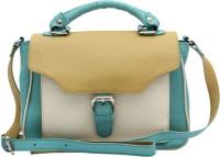 HX London Tansy Messenger Bag Blue, Light Yellow