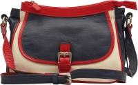 HX London Marigold Messenger Bag Blue, White