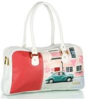 3 Mad Chicks Car Print Shoulder Bag White-5