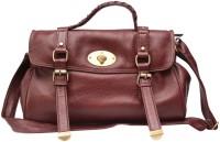 Chanter Texture Design Genuine Leather Hand Bag Maroon - 13